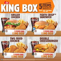 Offers from Burger King in the Kuala Lumpur leaflet