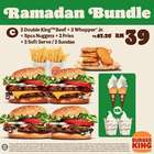 Restaurants offers in the Burger King catalogue in Kuala Lumpur ( 3 days left )