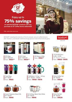 Offers from San Francisco Coffee in the Kuala Lumpur leaflet