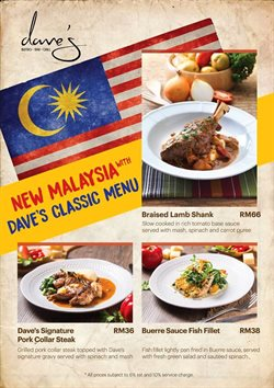 Offers from Dave's Bistro Bar Grill in the Petaling Jaya leaflet