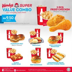 Offers from Wendy's in the Kuala Lumpur leaflet