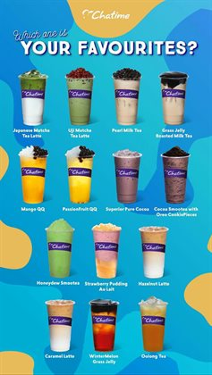 Chatime catalogue in Kota Kinabalu ( More than a month )