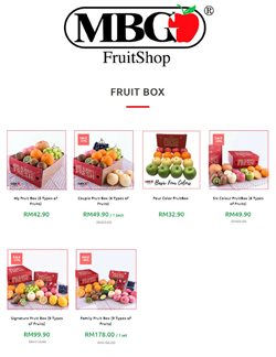 Supermarkets offers in the MBG Fruit Shop catalogue in Petaling Jaya