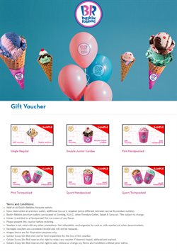 Offers from Baskin Robbins in the Johor Bahru leaflet