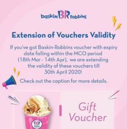 Baskin Robbins coupon in Johor Bahru ( 22 days left )