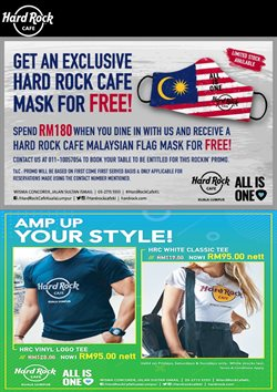 Hard Rock Cafe offers in Hard Rock Cafe catalogue ( 10 days left)