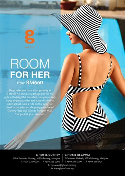 Offers from G Hotel Kelawai in the Penang leaflet
