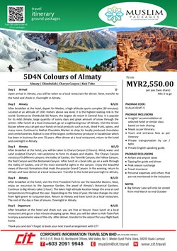 Travel offers in the CIT Travel catalogue in Kuala Lumpur ( More than a month )