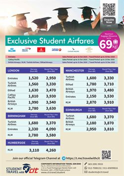 Travel offers in CIT Travel catalogue ( More than a month)