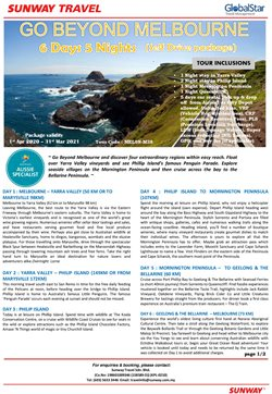 Travel offers in Sunway Travel catalogue ( More than a month)