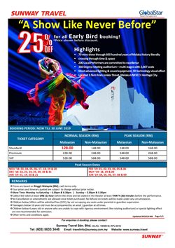 Offers from Sunway Travel in the Kuala Lumpur leaflet