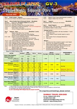 Travel offers in the Sunway Travel catalogue in Kajang-Bangi