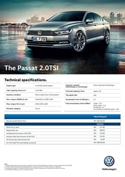 Cars, motorcycles & spares offers in the Volkswagen catalogue in Johor Bahru