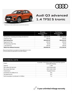 Audi catalogue ( More than a month )