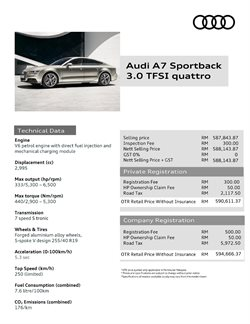 Offers from Audi in the Kuala Lumpur leaflet