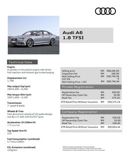Cars, motorcycles & spares offers in the Audi catalogue in Kuala Lumpur