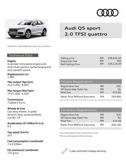 Cars, motorcycles & spares offers in the Audi catalogue in Sunway-Subang Jaya