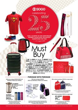 Offers from SOGO in the Petaling Jaya leaflet