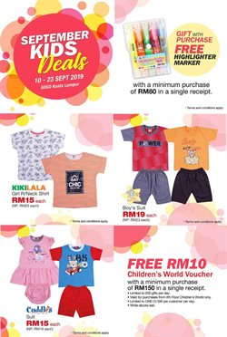 Offers from SOGO in the Shah Alam leaflet