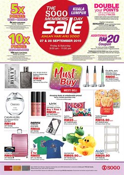 Offers from SOGO in the Sunway-Subang Jaya  leaflet