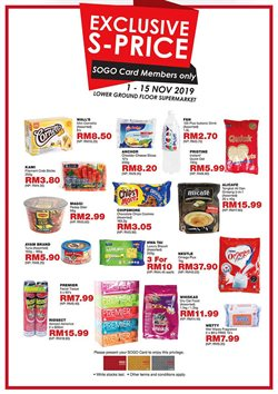 Offers from SOGO in the Kajang-Bangi leaflet