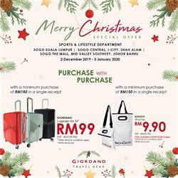 Clothes, shoes & accessories offers in the SOGO catalogue in Johor Bahru