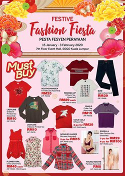 Clothes, shoes & accessories offers in the SOGO catalogue in Petaling Jaya