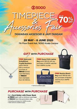 Clothes, shoes & accessories offers in the SOGO catalogue in Johor Bahru ( 2 days left )