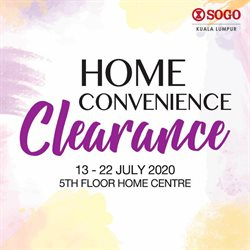 Clothes, shoes & accessories offers in the SOGO catalogue in Kajang-Bangi ( 1 day ago )