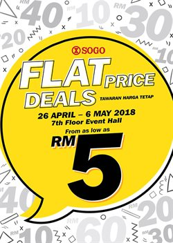 Offers from SOGO in the Kuala Lumpur leaflet