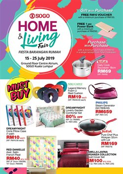 Clothes, shoes & accessories offers in the SOGO catalogue in Kuala Lumpur