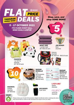 Department Stores offers in SOGO catalogue ( Expires tomorrow)