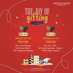 Offers from The Face Shop in the Penang leaflet