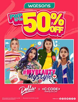 Watsons offers in Watsons catalogue ( 3 days left)