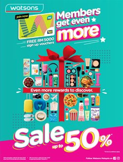 Offers from Watsons in the Klia leaflet