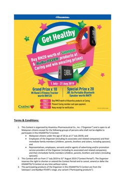 Offers from Caring Pharmacy in the Johor Bahru leaflet