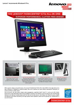 Offers from Lenovo in the Johor Bahru leaflet
