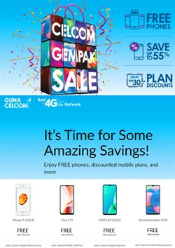 Offers from Celcom in the Penang leaflet