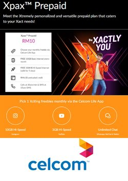 Offers from Celcom in the Kuala Lumpur leaflet