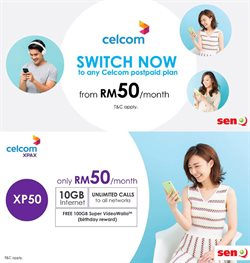 Offers from Celcom in the Petaling Jaya leaflet