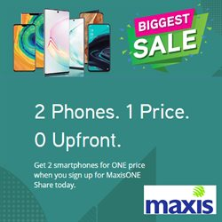 Offers from Maxis in the Kuching leaflet