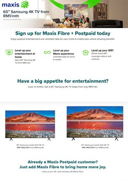 Maxis offers in Maxis catalogue ( 10 days left)