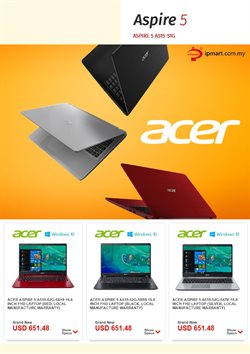 Electronics & Appliances offers in the Acer catalogue in Kajang-Bangi