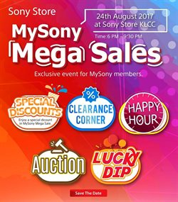 Offers from Sony Center in the Kuala Lumpur leaflet