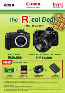 Offers from Canon in the Kajang-Bangi leaflet