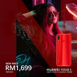Offers from Huawei in the Kuala Lumpur leaflet