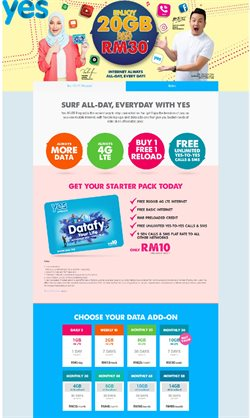 Offers from YES in the Kuala Lumpur leaflet