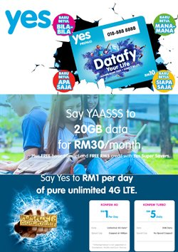 Offers from YES in the Kajang-Bangi leaflet