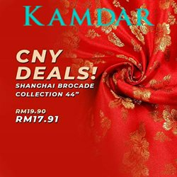 Offers from KAMDAR in the Johor Bahru leaflet