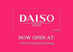 Offers from DAISO in the Kuala Lumpur leaflet